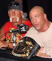 Wrestlemania XIX Press Conference Hulk Hogan  Kurt Angle 2003                      By John Barrett/PHOTOlink