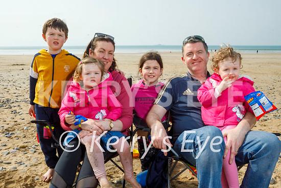 The O'Byrne family enjoying Banna beach on Thursday, l to r: Jack, Aileen, Lauren, Ellen, Mike and Nicole O'Byrne.