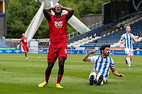 Wigan Athletic's Jamal Lowe reacts to missing a chance<br /> <br /> Photographer Alex Dodd/CameraSport<br /> <br /> The EFL Sky Bet Championship - Huddersfield Town v Wigan Athletic - Saturday 20th June 2020 - John Smith's Stadium - Huddersfield <br /> <br /> World Copyright © 2020 CameraSport. All rights reserved. 43 Linden Ave. Countesthorpe. Leicester. England. LE8 5PG - Tel: +44 (0) 116 277 4147 - admin@camerasport.com - www.camerasport.com