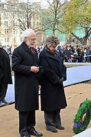 Ceremonie du souvenir, le 11 novembre 2012.<br /> <br /> PHOTOS :  Agence Quebec PresseNov 11, 2012 - Montreal, Quebec, CANADA -  Remembrance Day - Pierre Duchesne,  lieutenant-gouverneur du Quebec