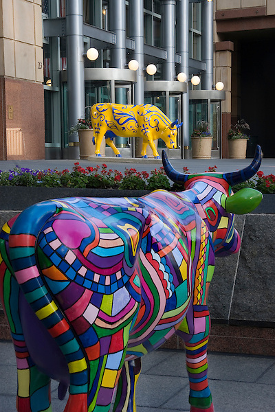 Tabor Building and cow art, Denver, Colorado, USA John offers private photo tours of Denver, Boulder and Rocky Mountain National Park.