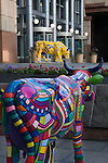 Tabor Building and cow art, Denver, Colorado, USA John offers private photo tours of Denver, Boulder and Rocky Mountain National Park.