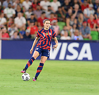 AUSTIN, TX - JUNE 16: Abby Dahlkemper #7 of the United States looks to pass the ball during a game between Nigeria and USWNT at Q2 Stadium on June 16, 2021 in Austin, Texas.