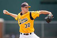 Relief pitcher Kyle Haynes #30 of the VCU Rams in action against the St. John's Red Storm at the Charlottesville Regional of the 2010 College World Series at Davenport Field on June 5, 2010, in Charlottesville, Virginia.  The Red Storm defeated the Rams 8-6.  Photo by Brian Westerholt / Four Seam Images