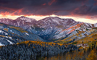 The annual exchange of seasons in Big Cottonwood Canyon. Wasatch Mountains, Utah.