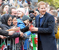 HRH Prince Harry and Ms Meghan Markle during their visit to Cardiff castle on Thursday 18th January 2018<br /> <br /> <br /> Jeff Thomas Photography -  www.jaypics.photoshelter.com - <br /> e-mail swansea1001@hotmail.co.uk -<br /> Mob: 07837 386244 -