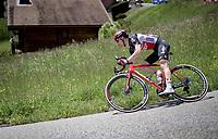 Sylvain Moniquet (BEL/Lotto Soudal)<br /> <br /> 73rd Critérium du Dauphiné 2021 (2.UWT)<br /> Stage 8 (Final) from La Léchère-Les-Bains to Les Gets (147km)<br /> <br /> ©kramon