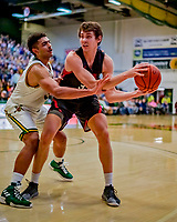 16 December 2018: Northeastern University Huskies Forward Tomas Murphy, a Sophomore from Wakefield, RI, in second half action against the University of Vermont Catamounts at Patrick Gymnasium in Burlington, Vermont. The Catamounts defeated the Huskies 75-70 in NCAA Division I America East play. Mandatory Credit: Ed Wolfstein Photo *** RAW (NEF) Image File Available ***