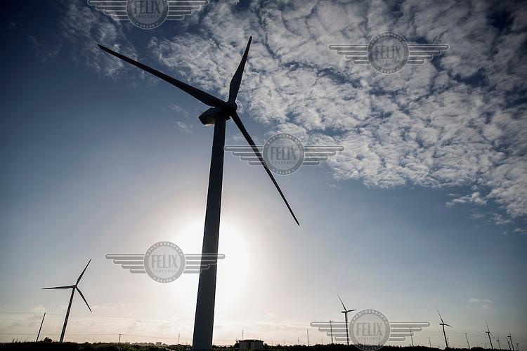 Wind turbines outside Shanghai.