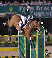 WELLINGTON, FL - MARCH 14: Cian O'Connor participants in the $127,000 Horseware Ireland Grand Prix at the Winter Equestrian Festival at Palm Beach International Equestrian Center on March 14, 2015 in Wellington, Florida.<br /> <br /> <br /> People:  Cian O'Connor