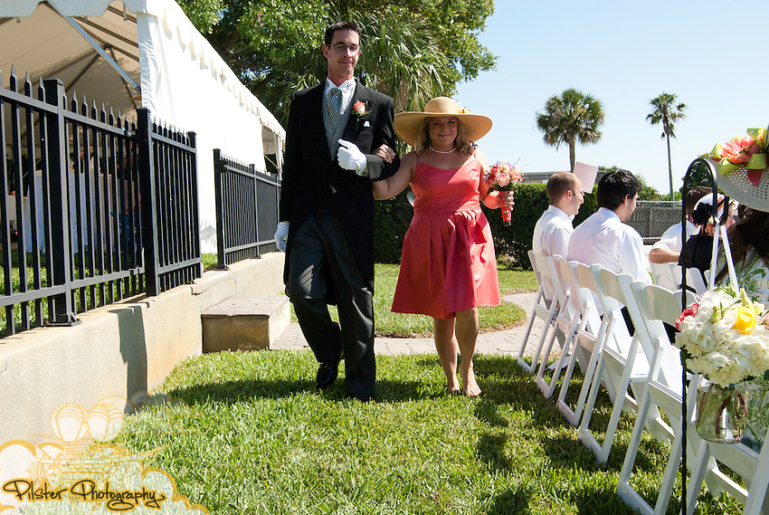 Shelley Watson and Jake Meyer's wedding Saturday, April 29, 2011, at Shelley's uncle's home in Orlando, Florida. They had a Kentucky Derby Theme. (James Shaffer for Pilster Photography http://www.PilsterPhotography.net)