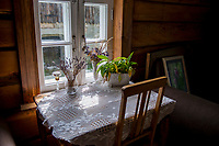 Estonia, Muhu Island. Muhu Jaanalind, guest house and farm. Ingrem Raidjoe (Daughter & owner), Helena Erik (mother & owner).