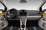 Stock photo of straight dashboard view of 2017 Volkswagen E-Up - 5 Door Hatchback Dashboard