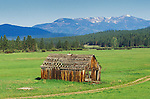 Old wood building in the Potomac Valley near Missoula, Montana