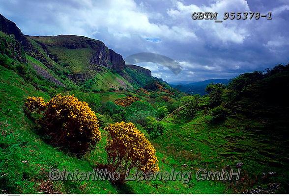 Tom Mackie, LANDSCAPES, LANDSCHAFTEN, PAISAJES, FOTO, photos,+6x7, cliff, cliffside, clouds, Eire, Europe, gorse, Ireland, Irish, medium format, mountain, valley,6x7, cliff, cliffside, cl+ouds, Eire, Europe, gorse, Ireland, Irish, medium format, mountain, valley+++,GBTM955378-1,#L#, EVERYDAY ,Ireland