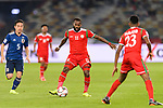Saad Al Mukhaini of Oman (C) in action during the AFC Asian Cup UAE 2019 Group F match between Oman (OMA) and Japan (JPN) at Zayed Sports City Stadium on 13 January 2019 in Abu Dhabi, United Arab Emirates. Photo by Marcio Rodrigo Machado / Power Sport Images