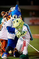 Mascots participate in an on field promotion during the Florida State League All-Star Game on June 17, 2017 at Joker Marchant Stadium in Lakeland, Florida.  FSL North All-Stars defeated the FSL South All-Stars  5-2.  (Mike Janes/Four Seam Images)