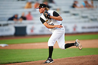 Quad Cities River Bandits relief pitcher Adam Whitt (36) during a game against the Bowling Green Hot Rods on July 24, 2016 at Modern Woodmen Park in Davenport, Iowa.  Quad Cities defeated Bowling Green 6-5.  (Mike Janes/Four Seam Images)