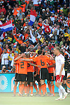 7 Dirk KUYT celebrate his goal during the 2010 World Cup Soccer match between Denmark and Nederland played at Soccer City Stadium in Johannesburg South Africa on 14 June 2010.