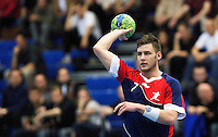 02 NOV 2011 - LONDON, GBR - Britain's Chris Mohr passes during the Men's 2013 World Handball Championship qualification match against Israel at the National Sports Centre at Crystal Palace .(PHOTO (C) NIGEL FARROW)