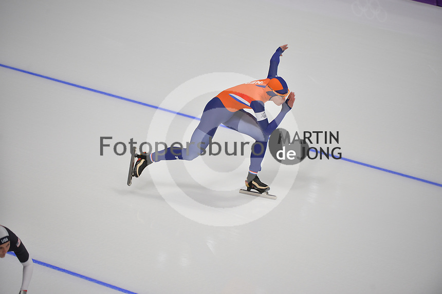 OLYMPIC GAMES: PYEONGCHANG: 14-02-2018, Gangneung Oval, Long Track, 1000m Ladies, Marrit Leenstra (NED), ©photo Martin de Jong