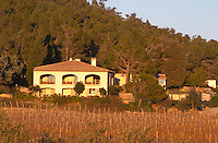 La Clape. Languedoc. Domaine Mas du Soleilla. The villa. The main building. The vineyard. France. Europe.