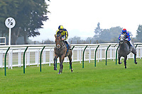 Winner of The Swallowcliffe Handicap (Div 2)  Willy Nilly ridden by Hector Crouch and trained by Clive Cox  during Horse Racing at Salisbury Racecourse on 13th August 2020