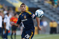 29 MAY 2010:  Galaxy's #28 Sean Franklin during MLS soccer game between LA Galaxy vs Columbus Crew at Crew Stadium in Columbus, Ohio on May 29, 2010. Galaxy defeated the Crew 2-0.