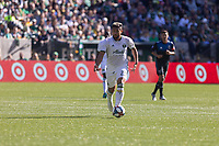Portland, Oregon - Sunday October 6, 2019: Billy Tuiloma #25 dribbles the ball upfield during a regular season match between Portland Timbers and San Jose Earthquakes at Providence Park in Portland, Oregon.