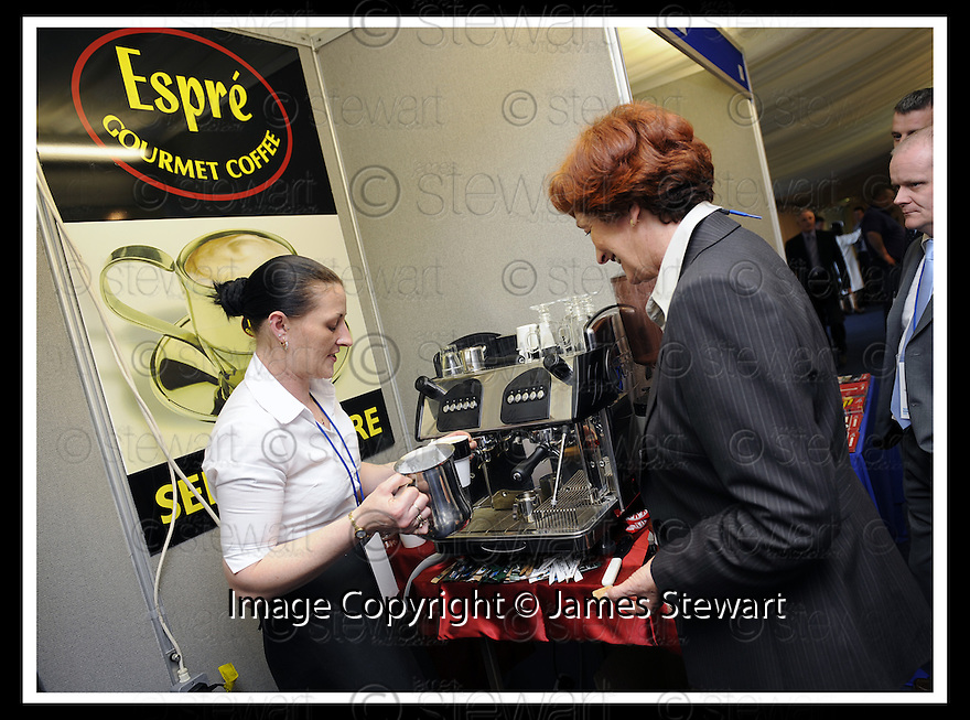 30/04/2008   Copyright Pic: James Stewart.File Name : 09_business_fair.FALKIRK BUSINESS FAIR 2008.ESPRE GOURMET COFFEE.James Stewart Photo Agency 19 Carronlea Drive, Falkirk. FK2 8DN      Vat Reg No. 607 6932 25.Studio      : +44 (0)1324 611191 .Mobile      : +44 (0)7721 416997.E-mail  :  jim@jspa.co.uk.If you require further information then contact Jim Stewart on any of the numbers above........