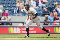 Dayton Dragons outfielder Narciso Crook (36) heads home against the West Michigan Whitecaps on April 24, 2016 at Fifth Third Ballpark in Comstock, Michigan. Dayton defeated West Michigan 4-3. (Andrew Woolley/Four Seam Images)