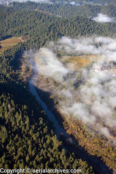 aerial photograph vineyards Russian River Sonoma County, California