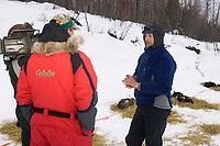 Robert Sorlie on Yukon River Gives Interview Eagle Is Chkpt 2005 Iditarod