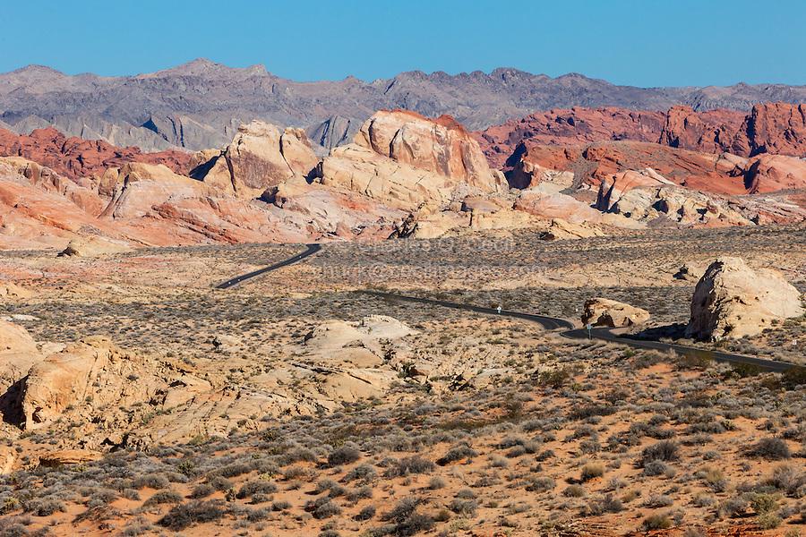Valley of Fire, Nevada.  Rainbow Vista.