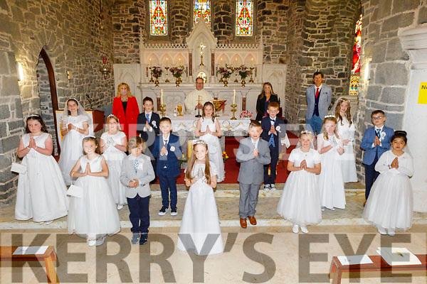 Ardfert  NS First Holy Communion class at their communion in Ardfert on Saturday.