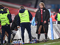 2nd January 2021; Kingsholm Stadium, Gloucester, Gloucestershire, England; English Premiership Rugby, Gloucester versus Sale Sharks; Billy Twelvetrees of Gloucester apologises after the match to the waterboy he pushed
