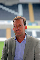 WORDS BY OLIVER HARVEY, SUN FEATURES<br /> Pictured: Huw Jenkins, chairman for Swansea City FC at the Liberty Stadium. Tuesday 09 August 2011<br /> Re: The effect that the promotion of Swansea City Football Club to the Premiership will have to the local economy of south Wales city,