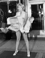 "The iconic image of Marilyn Monroe during the filming of ""The Seven Year Itch in 1954"