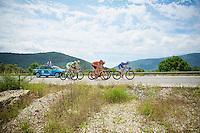 5 men breakaway group of the day including André Greipel (DEU/Lotto-Belisol), Wesley Kreder (NLD/Wanty-Groupe Gobert), Arman Kamyshev (KAZ/Astana), Matthias Krizek (AUT/Cannondale) & Adrian Kurek (POL/CCC-Polsat Polkowice)<br /> <br /> Tour of Turkey 2014<br /> stage 6