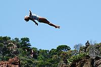 12th June 2021, Saint-Raphaël, Provence-Alpes-Côte d'Azur, France; Red Bull Cliff Diving competition;  Genevieve BRADLEY (USA)
