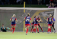 Boyds, MD - Wednesday Sept. 07, 2016: Christine Nairn, Cheyna Williams celebrates scoring during a regular season National Women's Soccer League (NWSL) match between the Washington Spirit and the Seattle Reign FC at Maureen Hendricks Field, Maryland SoccerPlex.