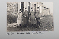 BNPS.co.uk (01202 558833)<br /> Pic: C&TAuctions/BNPS<br /> <br /> Pictured: German officers pose for a photograph. <br /> <br /> Fascinating previously unseen World War One photos showing the conflict from the German perspective have come to light 103 years on.<br /> <br /> Major Hans Rudloff, a distinguished artillery officer, took hundreds of images of some of the major Western Front battles.<br /> <br /> There are scenes of destruction on the Verdun and at Cambrai, as well as snapshots of captured British soldiers on the Somme in the early days of the German Spring Offensive in March 1918.