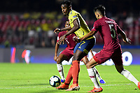 SAO PAULO – BRASIL, 19-06-2019:Duván Zapata de Colombia en acción durante partido de la Copa América Brasil 2019, grupo B, entre Colombia y Catar jugado en el Estadio Morumbí de Sao Paulo, Brasil. / Duvan Zapata of Colombia in action during the Copa America Brazil 2019 group B match between Colombia and Qatar played at Morumbi stadium in Sao Paulo, Brazil. Photos: VizzorImage / Julian Medina / Contribuidor