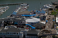 aerial photograph Pier 39 Fisherman's Wharf San Francisco