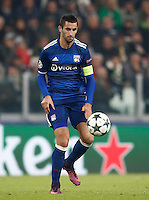 Calcio, Champions League: Gruppo H, Juventus vs Lione. Torino, Juventus Stadium, 2 novembre 2016. <br /> Lyon's Maxime Gonalons in action during the Champions League Group H football match between Juventus and Lyon at Turin's Juventus Stadium, 2 November 2016. The game ended 1-1.<br /> UPDATE IMAGES PRESS/Isabella Bonotto