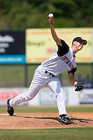 Starting pitcher Nathan Jones (26) of the Kannapolis Intimidators in action versus the Hagerstown Suns at Fieldcrest Cannon Stadium in Kannapolis, NC, Monday May 26, 2008.