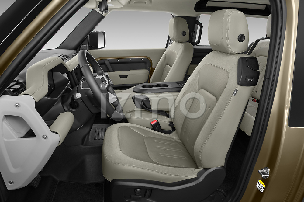 Front seat view of 2021 Land Rover Defender First-Edition 5 Door SUV Front Seat  car photos