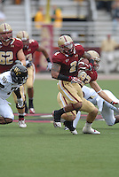 Boston College Eagles running back Montel Harris (#2) during a game versus the Wake Forest Demon Deacons at Alumni Stadium in Chestnut Hill, Massachusetts on October 1, 2011.Wake Forest would defeat the Eagles 27-19.Photo By Ken Babbitt/Four Seam Images