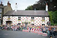 Yorkshire TDF madness: the Polka Dot House in Harrogate<br /> <br /> 2014 Tour de France<br /> stage 2: York-Sheffield (201km)
