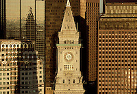 Customs House Tower aerial view, Boston, MA